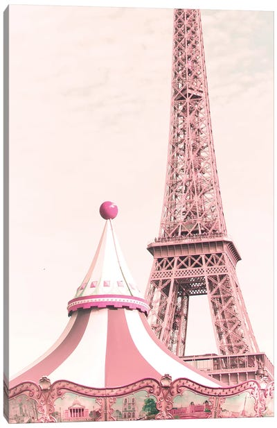 Paris Carousel Canvas Art Print