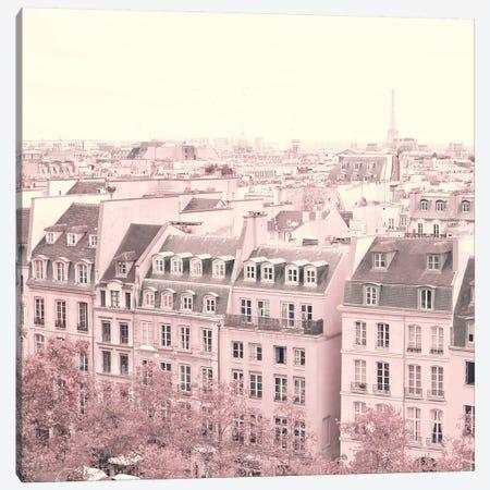 Paris Rooftops Canvas Print #CMN113} by Caroline Mint Canvas Print