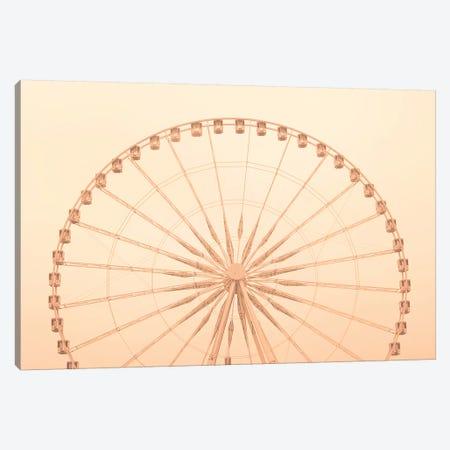Paris Wheel Canvas Print #CMN115} by Caroline Mint Canvas Wall Art