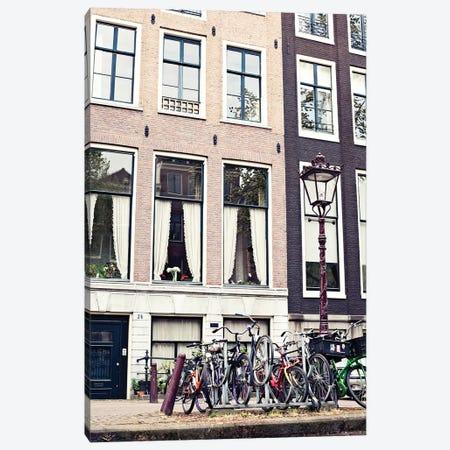 Amsterdam Bicycles Canvas Print #CMN11} by Caroline Mint Canvas Art Print