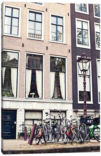 Amsterdam Bicycles Canvas Art Print