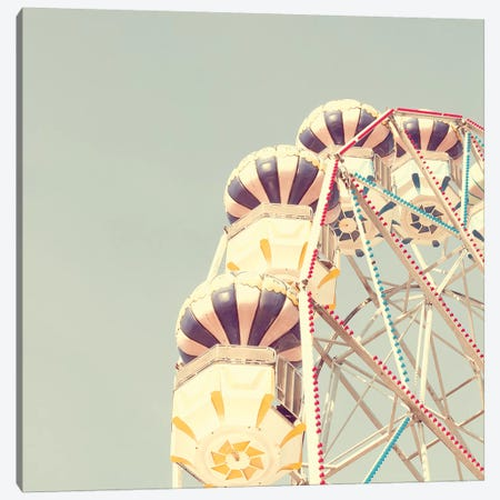 Pastel Ferris Wheel Canvas Print #CMN120} by Caroline Mint Canvas Art