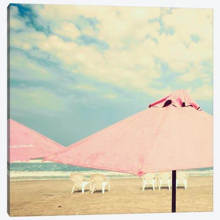 Pink Umbrellas Canvas Print #CMN129} by Caroline Mint Canvas Art
