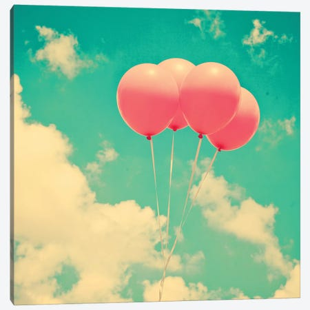 Pop Balloons Canvas Print #CMN131} by Caroline Mint Canvas Print