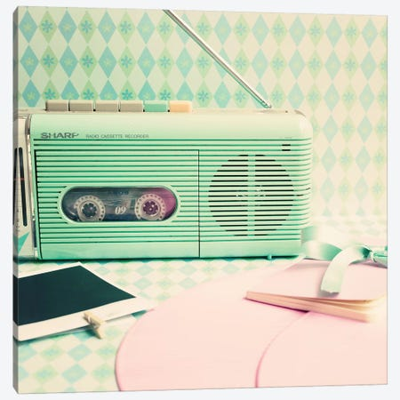 Radio Songs Canvas Print #CMN134} by Caroline Mint Canvas Art
