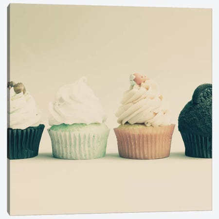 Retro Cupcakes Canvas Print #CMN139} by Caroline Mint Canvas Print