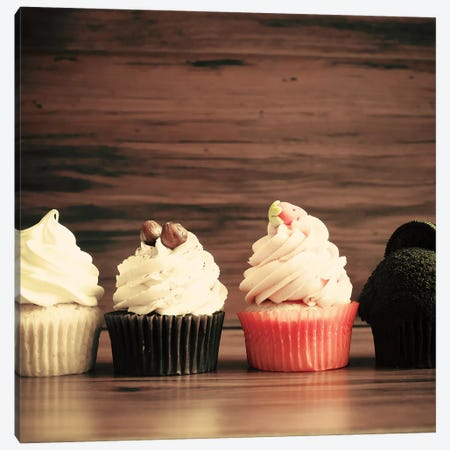 Autumn Cupcakes 3-Piece Canvas #CMN13} by Caroline Mint Canvas Art Print