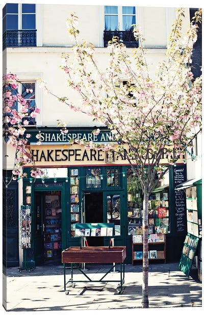Shakespeare And Co Canvas Art Print
