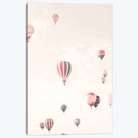 Soft Hot Air Balloons Canvas Print #CMN155} by Caroline Mint Canvas Artwork