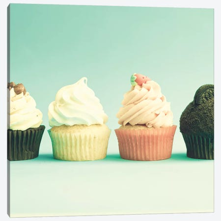 Spring Cupcakes 3-Piece Canvas #CMN158} by Caroline Mint Art Print