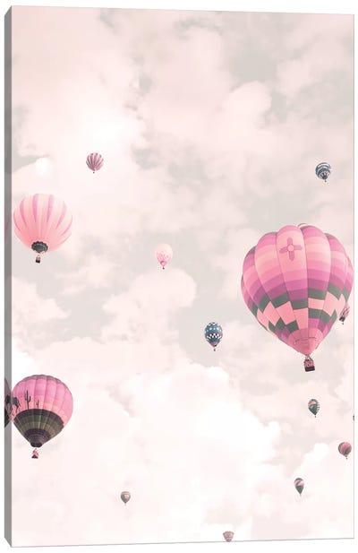 Balloons Over Pink Sky Canvas Art Print