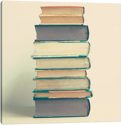 Stack Of Books Canvas Art Print