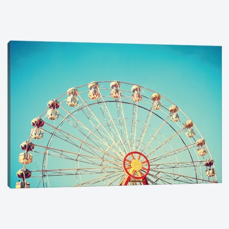 Summer Ferris Wheel Canvas Print #CMN163} by Caroline Mint Canvas Art