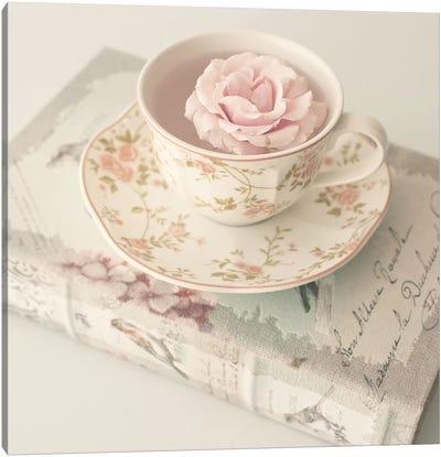 Tea Time Readings Canvas Art Print