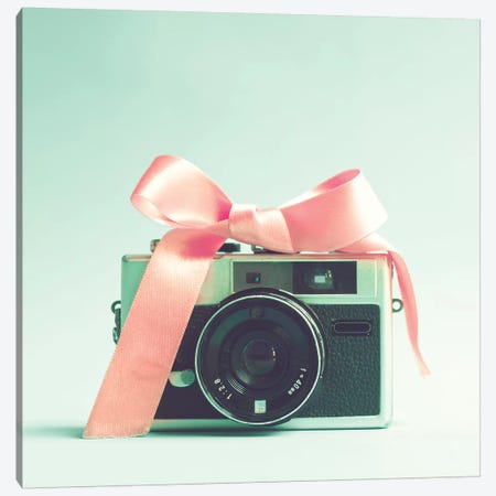 The Little Camera Of The Girl Canvas Print #CMN177} by Caroline Mint Canvas Wall Art