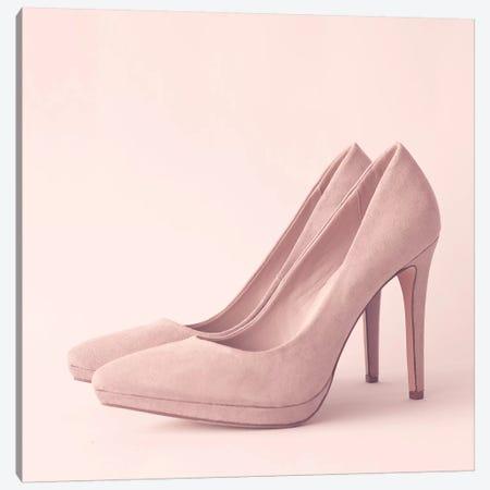 The Pink Heels Canvas Print #CMN179} by Caroline Mint Canvas Art Print