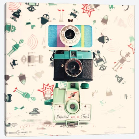 Three Cameras 3-Piece Canvas #CMN184} by Caroline Mint Canvas Art Print