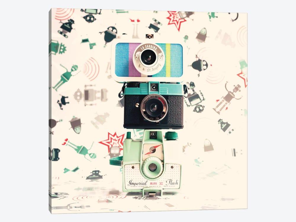 Three Cameras by Caroline Mint 1-piece Canvas Wall Art