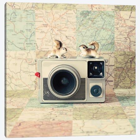 Traveling The World Together Canvas Print #CMN189} by Caroline Mint Canvas Art