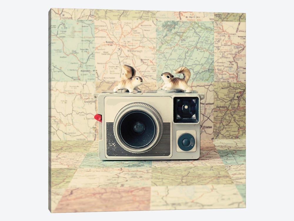 Traveling The World Together by Caroline Mint 1-piece Canvas Art Print
