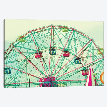 Wonder Wheel 3-Piece Canvas #CMN199} by Caroline Mint Canvas Art Print