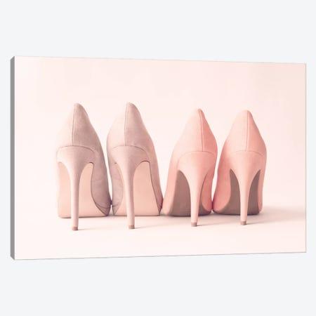Blush Heels Canvas Print #CMN21} by Caroline Mint Canvas Artwork