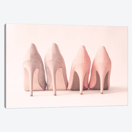 Blush Heels Canvas Print #CMN21} by Caroline Mint Canvas Artwork