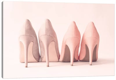 Blush Heels Canvas Art Print