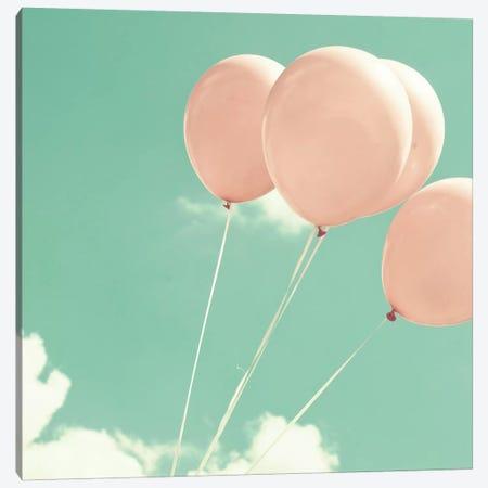Blush Pink Balloons Canvas Print #CMN22} by Caroline Mint Canvas Art