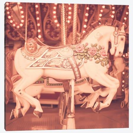 Blush Pink Horse Canvas Print #CMN24} by Caroline Mint Canvas Art Print
