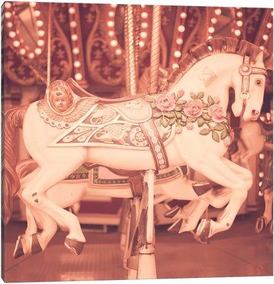 Blush Pink Horse Canvas Art Print