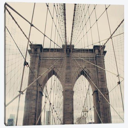 Brooklyn Bridge Canvas Print #CMN26} by Caroline Mint Art Print