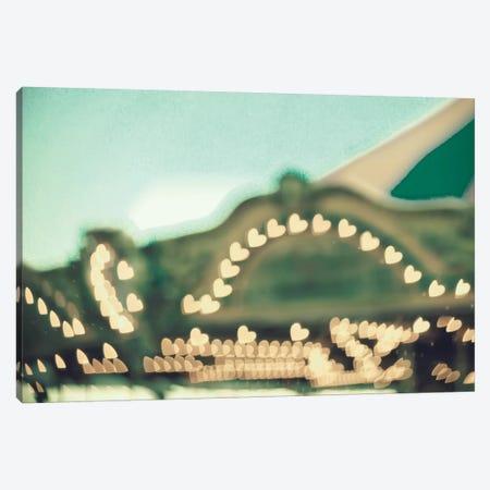 Carousel Lights Canvas Print #CMN28} by Caroline Mint Canvas Artwork