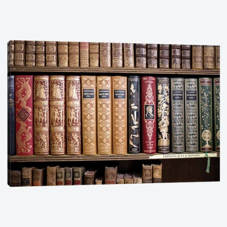 Classic French Books Canvas Print #CMN30} by Caroline Mint Canvas Art Print
