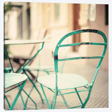 Coffee Chair Canvas Print #CMN31} by Caroline Mint Canvas Print