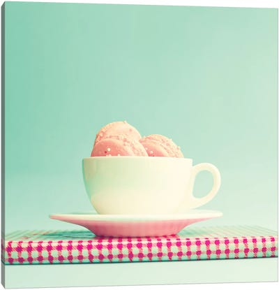 Cup Of Macaroons Canvas Art Print