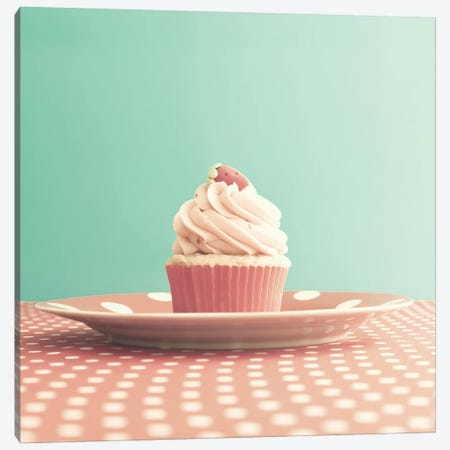 Cupcake For The Soul Canvas Print #CMN37} by Caroline Mint Canvas Artwork