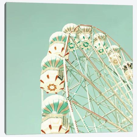 Ferris Wheel Over Mint Sky Canvas Print #CMN49} by Caroline Mint Canvas Art