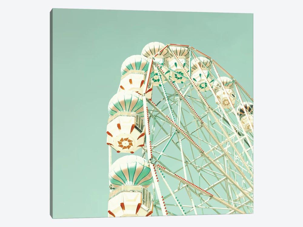 Ferris Wheel Over Mint Sky by Caroline Mint 1-piece Canvas Art