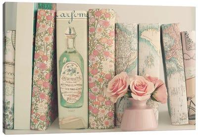 Floral Books Canvas Art Print
