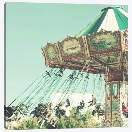 Flying Chairs On Mint Canvas Print #CMN54} by Caroline Mint Canvas Artwork