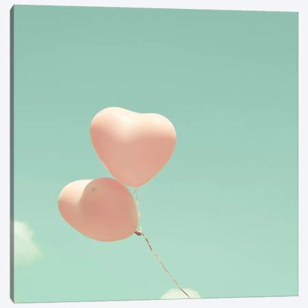 Heart Balloons In The Sky Canvas Print #CMN68} by Caroline Mint Canvas Wall Art