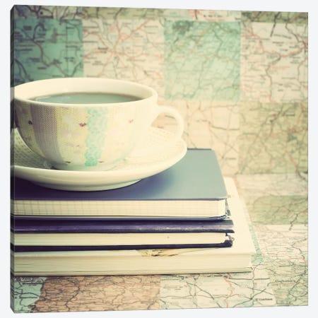 Lets Plan A Trip Canvas Print #CMN80} by Caroline Mint Canvas Art