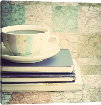 Lets Plan A Trip Canvas Art Print