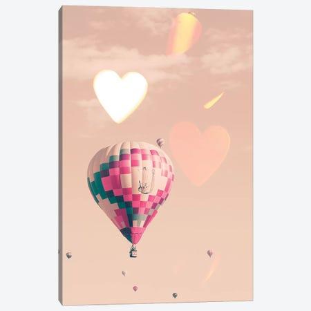 Love Balloon Canvas Print #CMN82} by Caroline Mint Canvas Artwork