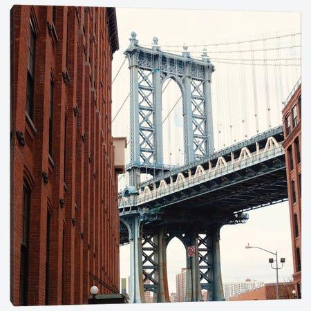 Manhattan Bridge Canvas Print #CMN86} by Caroline Mint Canvas Art Print