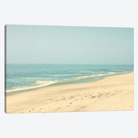 Morning In The Beach Canvas Print #CMN96} by Caroline Mint Canvas Artwork