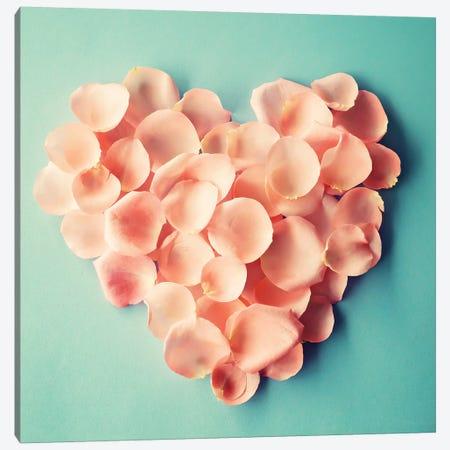 My Heart Is Here Canvas Print #CMN97} by Caroline Mint Canvas Art