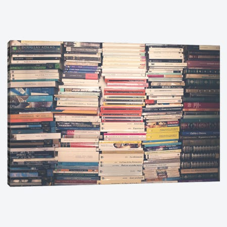 All Our Books Canvas Print #CMN9} by Caroline Mint Canvas Wall Art
