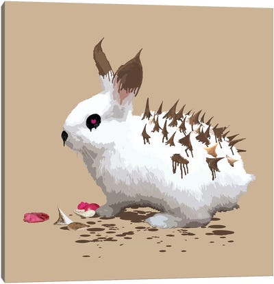 The Bunny Who Wanted To Be A Hedgehog Canvas Art Print